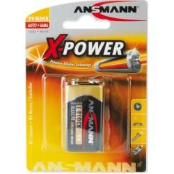Αλκαλική Μπαταρία Ansmann 6LR61 block 9V