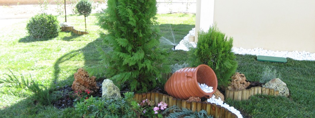 Διαμόρφωση ιδιωτικού κήπου στο Καματερό