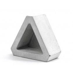 Τρίγωνο Τσιμεντένιο Γλαστράκι για Παχύφυτα